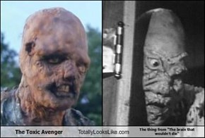 "The Toxic Avenger Totally Looks Like The thing from ""The brain that wouldn't die"""