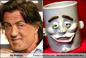 Sly Stallone Totally Looks Like The Face on this Coffee Mug