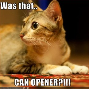 Was that..  CAN OPENER?!!!