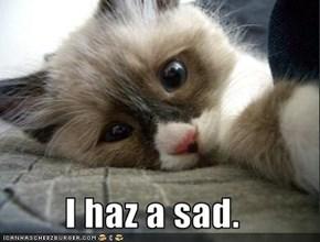 I haz a sad.