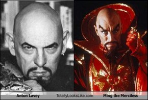 Anton Lavey Totally Looks Like Ming the Merciless