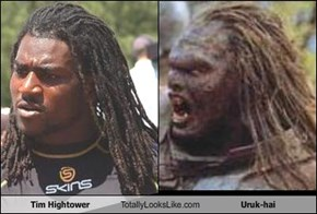 Tim Hightower Totally Looks Like Uruk-hai