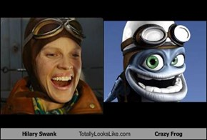 Hilary Swank Totally Looks Like Crazy Frog