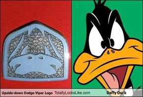 Upside-down Dodge Viper Logo Totally Looks Like Daffy Duck