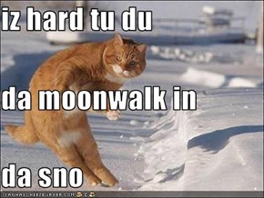 iz hard tu du  da moonwalk in da sno