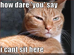 how dare 'you' say  i cant sit here