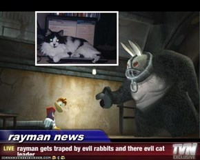 rayman news - rayman gets traped by evil rabbits and there evil cat leader