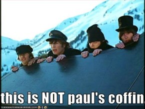 this is NOT paul's coffin.