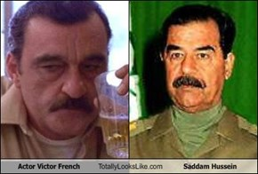Actor Victor French Totally Looks Like Saddam Hussein