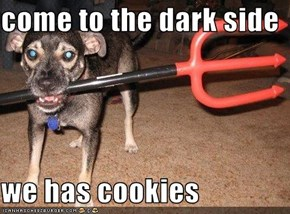 come to the dark side  we has cookies