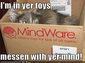 I'm in yer toys  messen with yer mind!