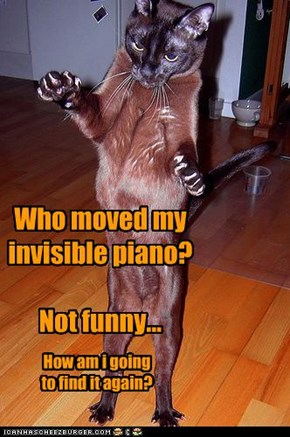 Who moved my invisible piano?  Not funny...