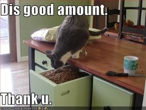 Dis good amount.  Thank u.