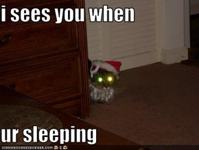 i sees you when  ur sleeping
