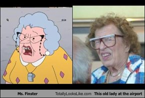 Ms. Finster Totally Looks Like This old lady at the airport