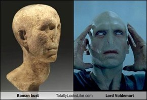 Roman bust Totally Looks Like Lord Voldemort