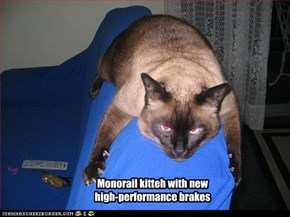 Monorail kitteh with new  high-performance brakes