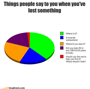 Things people say to you when you've lost something