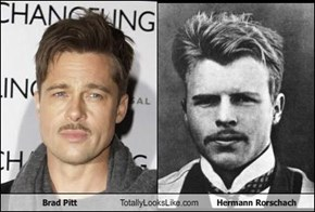 Brad Pitt Totally Looks Like Hermann Rorschach