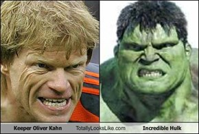 Keeper Oliver Kahn Totally Looks Like Incredible Hulk