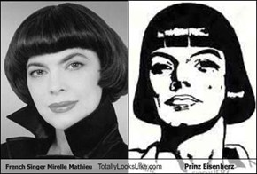 French Singer Mirelle Mathieu Totally Looks Like Prinz Eisenherz