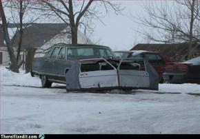 Redneck snowplow