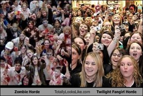 Zombie Horde Totally Looks Like Twilight Fangirl Horde