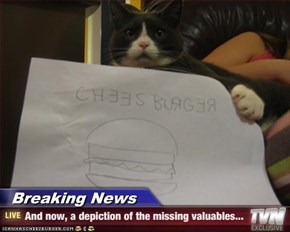 Breaking News - And now, a depiction of the missing valuables...