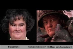 Susan Boyle Totally Looks Like Bird Lady from Home Alone 2