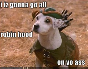 i iz gonna go all robin hood on yo ass