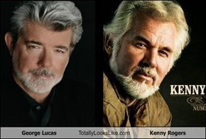 George Lucas Totally Looks Like Kenny Rogers