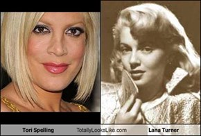 Tori Spelling Totally Looks Like Lana Turner