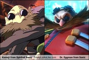 Kamaji from Spirited Away Totally Looks Like Dr. Eggman from Sonic