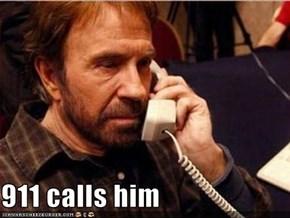 911 calls him