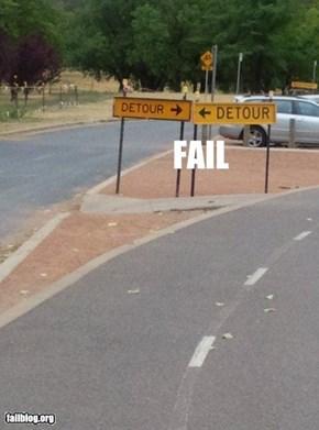 Detour Fail