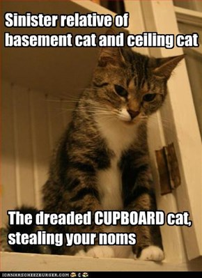 Sinister relative of  basement cat and ceiling cat