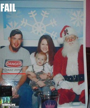 Christmas Photo Fail
