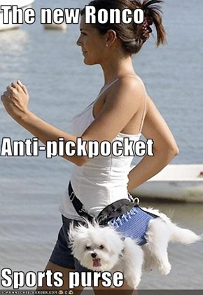 The new Ronco  Anti-pickpocket  Sports purse