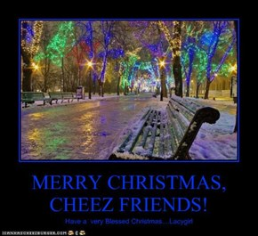 MERRY CHRISTMAS, CHEEZ FRIENDS!