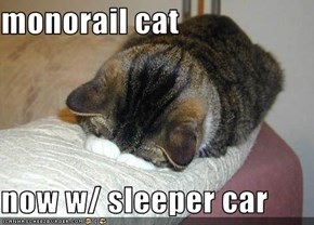 monorail cat  now w/ sleeper car