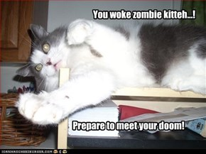 You woke zombie kitteh...!