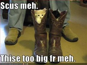 Scus meh.  Thise too big fr meh.