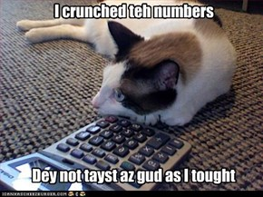 I crunched teh numbers
