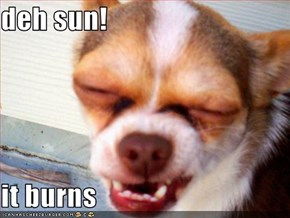 deh sun!  it burns