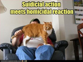 Suidicial action  meets homicidal reaction