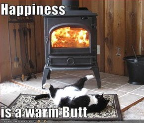 Happiness  is a warm Butt