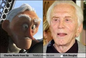Charles Muntz from Up Totally Looks Like Kirk Douglas