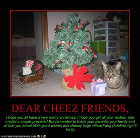DEAR CHEEZ FRIENDS,