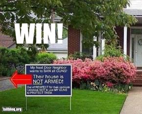 Pro Gun Sign Win