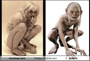Courtney Love Totally Looks Like Gollum